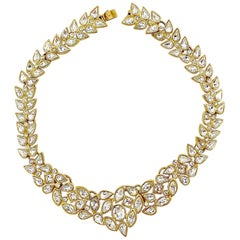 YSL Yves Saint Laurent by Robert Goossens Heart Rhinestone Choker Necklace