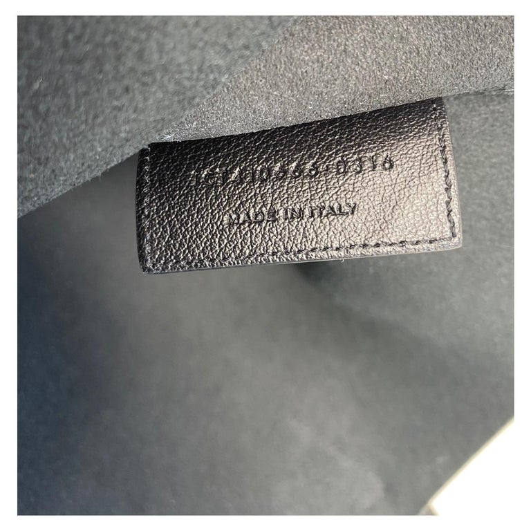 YSL Yves Saint Laurent Fringe Black Leather Tote Handbag For Sale 4
