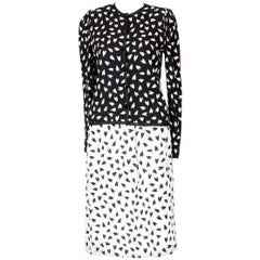 YSL Yves Saint Laurent Heart Print Fluid Suit