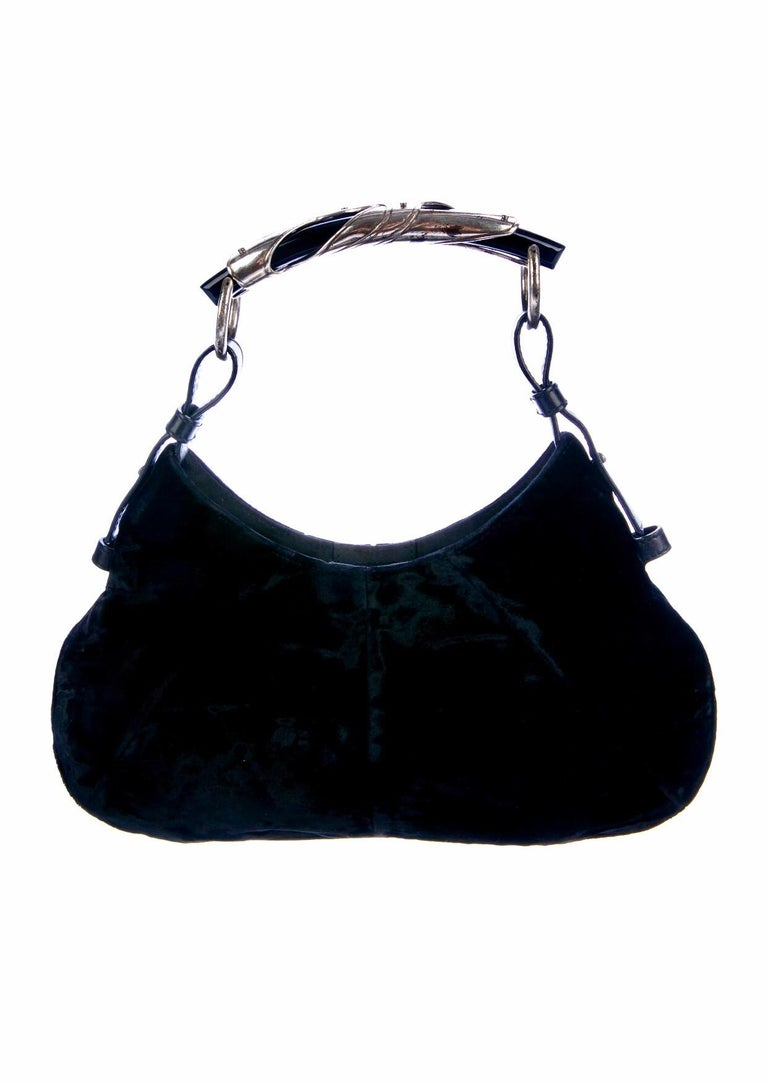 YSL Yves Saint Laurent Rive Gauche by Tom Ford Mombasa Velvet Evening Bag In Good Condition For Sale In Switzerland, CH