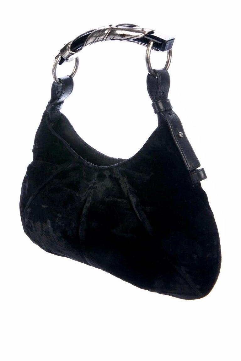 Women's YSL Yves Saint Laurent Rive Gauche by Tom Ford Mombasa Velvet Evening Bag For Sale