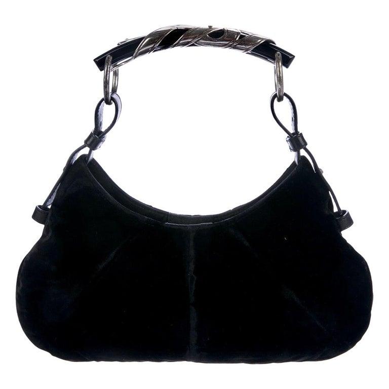 YSL Yves Saint Laurent Rive Gauche by Tom Ford Mombasa Velvet Evening Bag For Sale