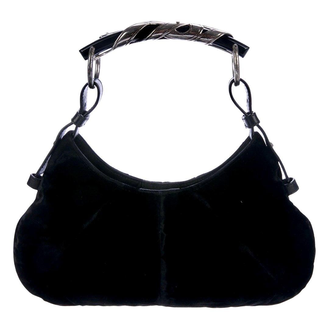 YSL Yves Saint Laurent Rive Gauche by Tom Ford Mombasa Velvet Evening Bag