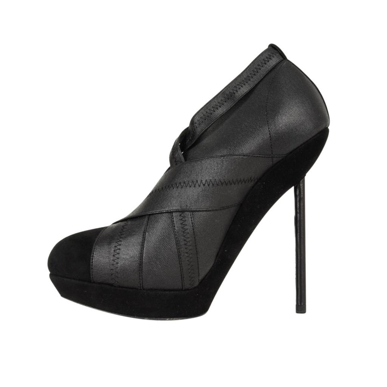 d3a1a55d62f YSL Yves Saint Laurent Shoe Platform Bandage and Suede Stiletto Shootie 39  / 9 For Sale at 1stdibs