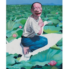 Lotus Pool - Contemporary, 21st Century, Lithograph, Limited Edition, Chinese