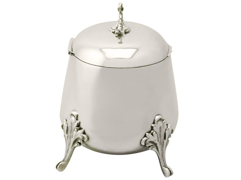 Other 1925 Antique Yugoslavian Silver Tea Caddy For Sale
