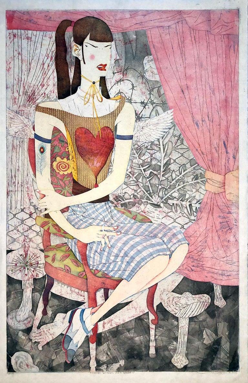 Chibi Wings AKA Heart - Print by Yuji Hiratsuka