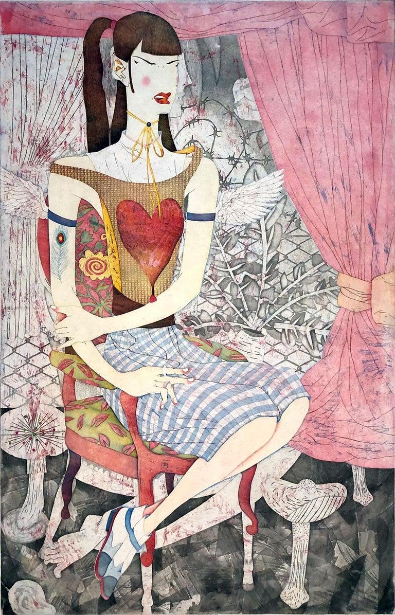 Yuji Hiratsuka Still-Life Print - Chibi Wings AKA Heart