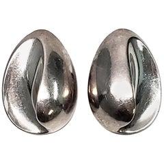 Yukihiro Shibata Sterling Silver Clip-On Earrings