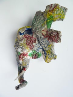 Elephant - Contemporary Mixed Media Animal Sculpture From Upcycled Materials