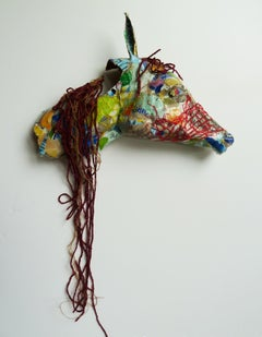 Horse - Contemporary Abstract Animal Sculpture from Up-cycled Materials
