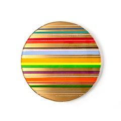 Candy stripes - Circle Resin Multicolored Wall Art