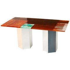 Yuma Kano Rust Harvest Dining Table Acrylic