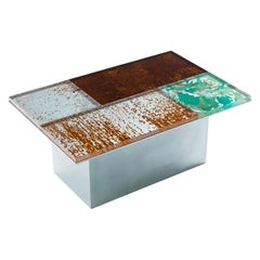 Yuma Kano Rust Harvest Low Table Acrylic Art