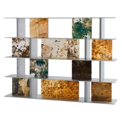 Yuma Kano Rust Harvest Shelf Acrylic Art room divider