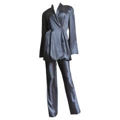 Yumi Eto Silk Parachute Jacket Pant Suit