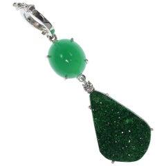 Yummy Green on Green Gemstone Pendant