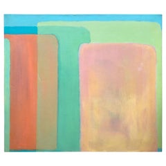 Yummy Ice Cream Sherbet Palette Large Graphic Abstract Painting