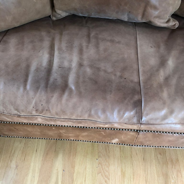 Yummy Pair of Soft Leather and Down Ralph Lauren Sofas 3