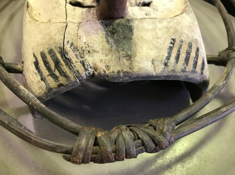 Yupik Yup'ik Native American Alaska Carved Polychrome Wood Anthropomorphic Mask For Sale 6
