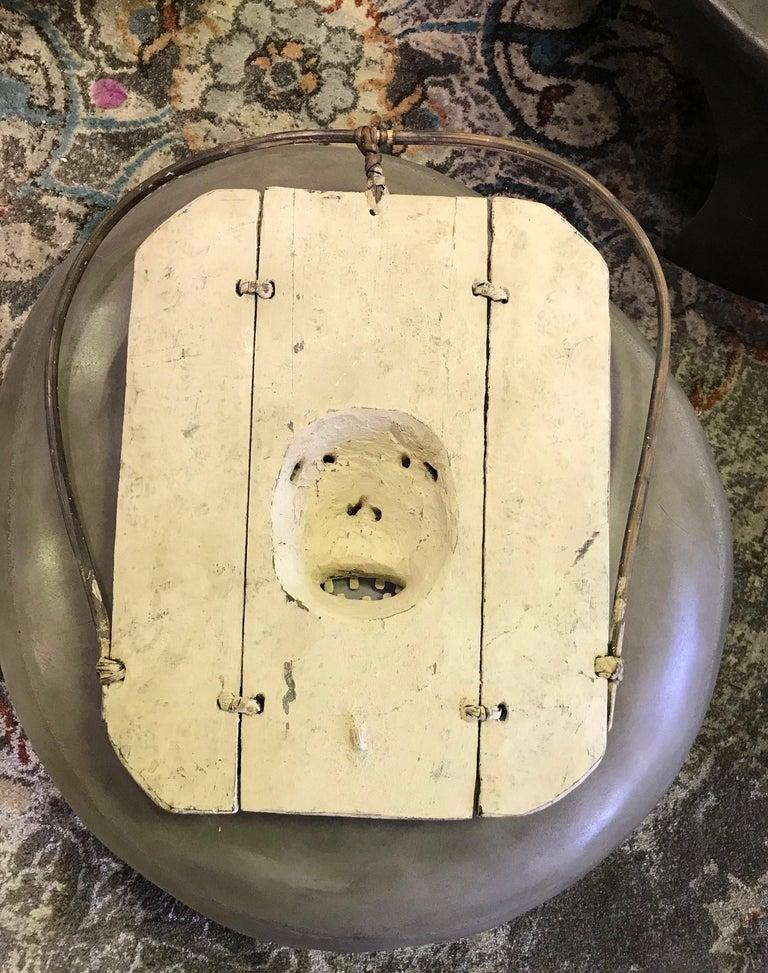 Yupik Yup'ik Native American Alaska Carved Polychrome Wood Anthropomorphic Mask For Sale 7