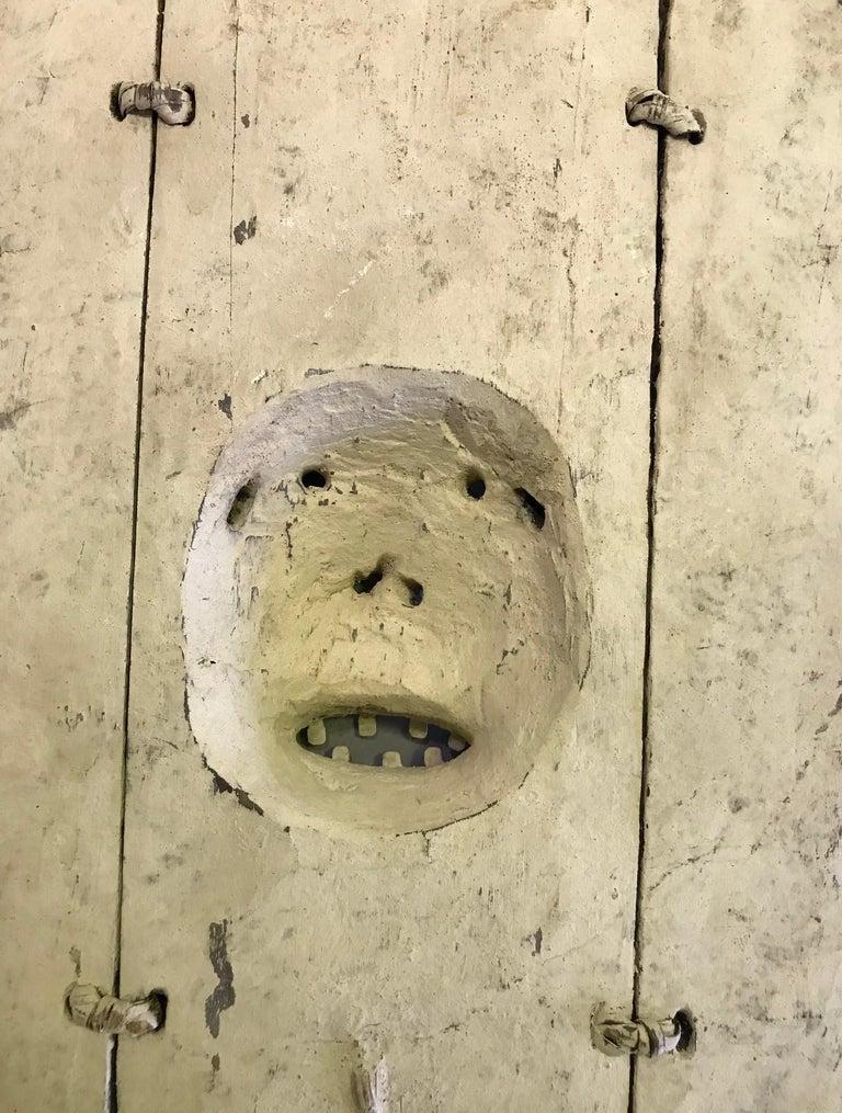 Yupik Yup'ik Native American Alaska Carved Polychrome Wood Anthropomorphic Mask For Sale 8