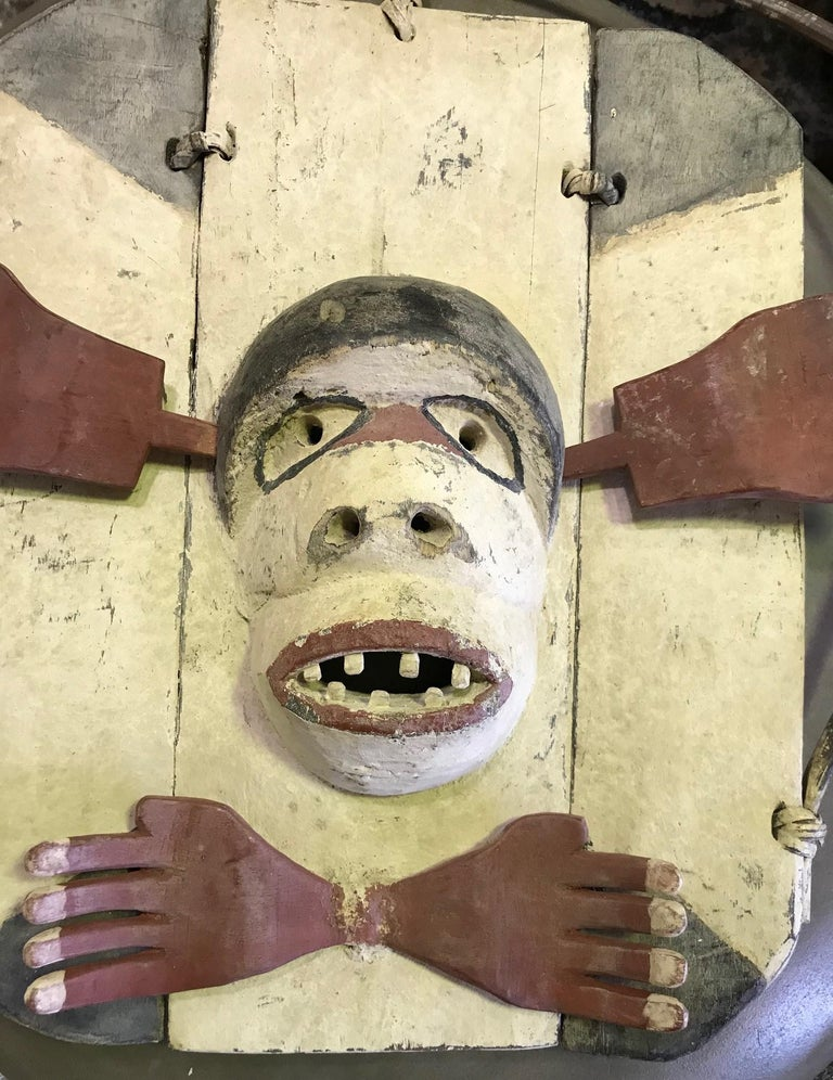 A truly fascinating mask by the Yup'ik (Yupik) aboriginal, indigenous people of South-Western & South Central Alaska. The Yup'ik people, who are related to the Inuit peoples, have a long history of ceremonial mask making. Yup'ik masks were