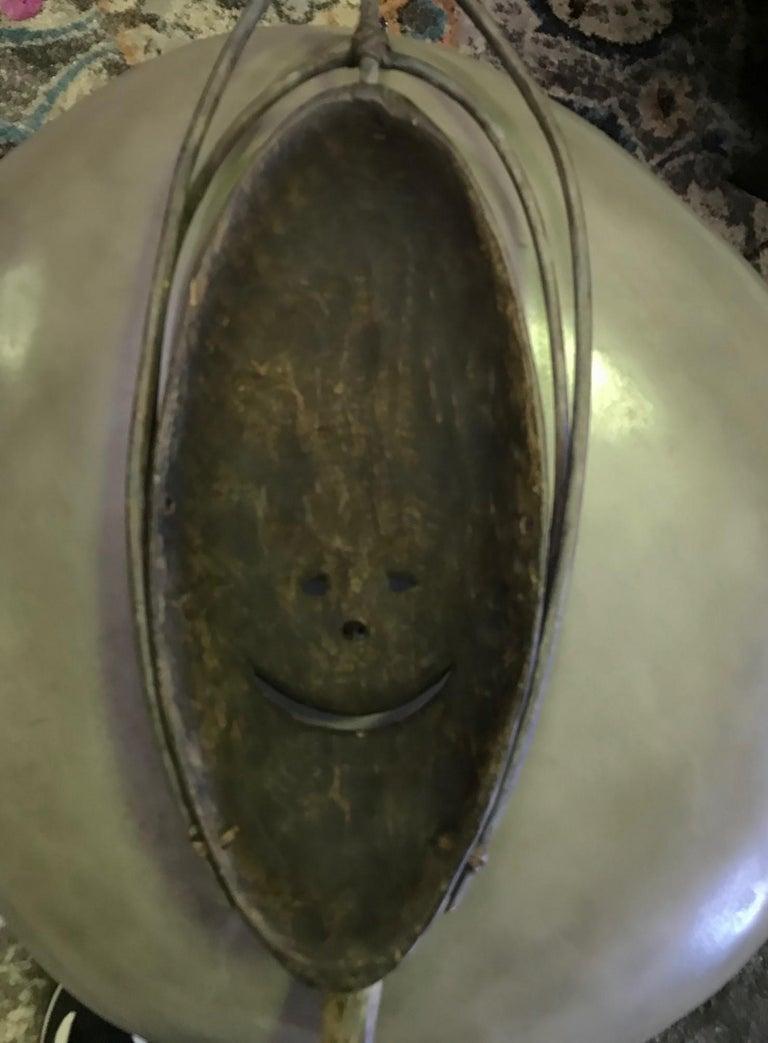 Yupik Yup'ik Native American Alaska Carved Polychrome Wood Anthropomorphic Mask For Sale 3