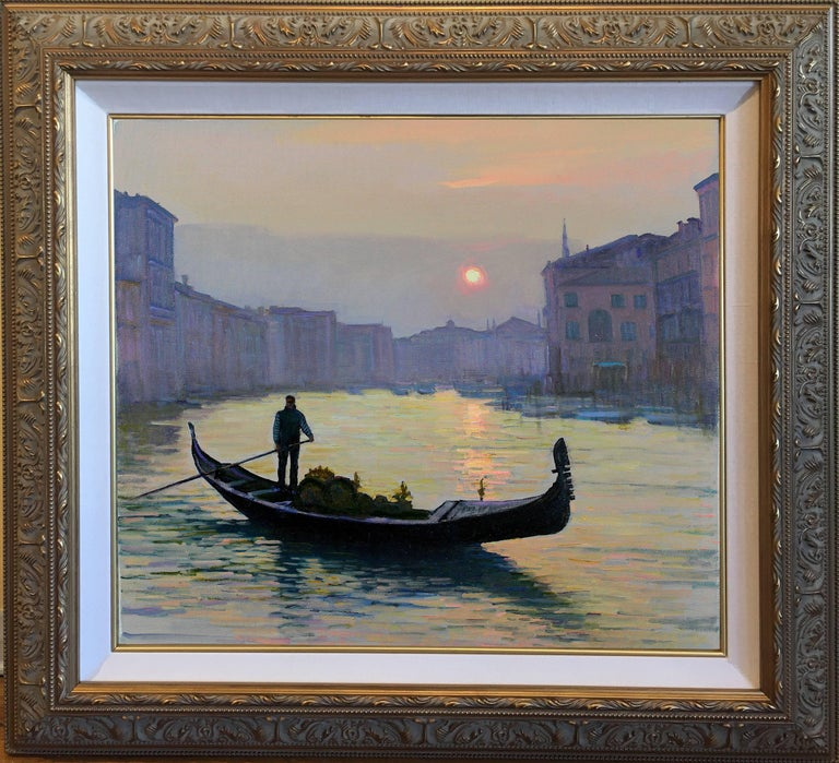 Venice the Evening On the Grand Canal - Painting by Yuri Bondarenko
