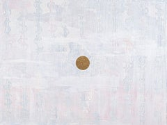 Money - Gold Center Painting - Abstract Oil and Gold Leaf Painting, Dollar Signs
