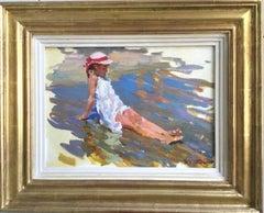 AT THE EDGE OF THE SEA ,,Yuri Krotov 1964  contemporary Russian artist