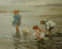 SAIL PIRATES BOATS..Yuri Krotov Contempary Russian Impressionist unframed