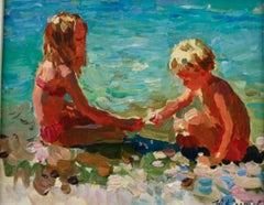 SEARCHING SHELLS,  Yuri Krotov 1964  Russian contemporary artist