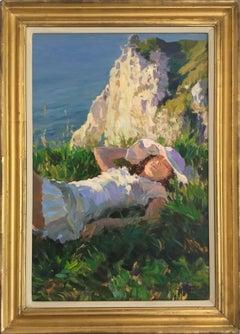 SLEEPING PORT GOULPHAR BELLE IIE BRITTANY FRANCE..Yuri Krotov contemporary