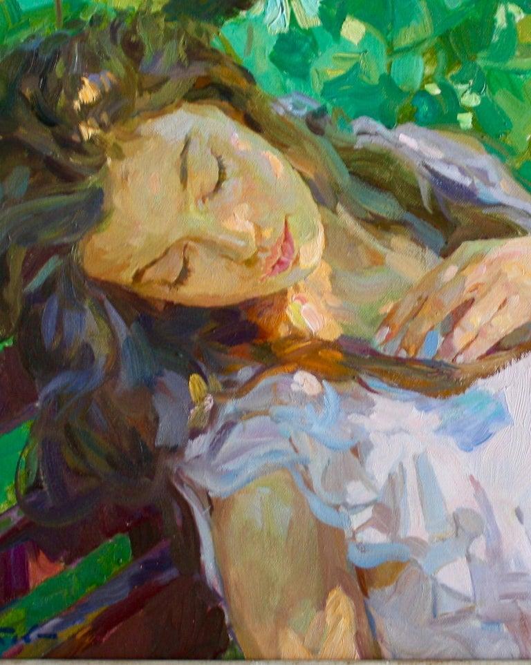 Sleeping ,,Yuri Krotov contemporary Russian artist impressionist  For Sale 1