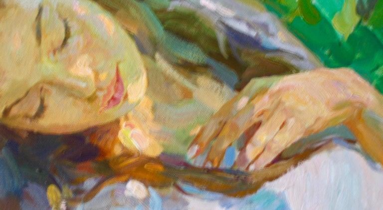 Sleeping ,,Yuri Krotov contemporary Russian artist impressionist  For Sale 3