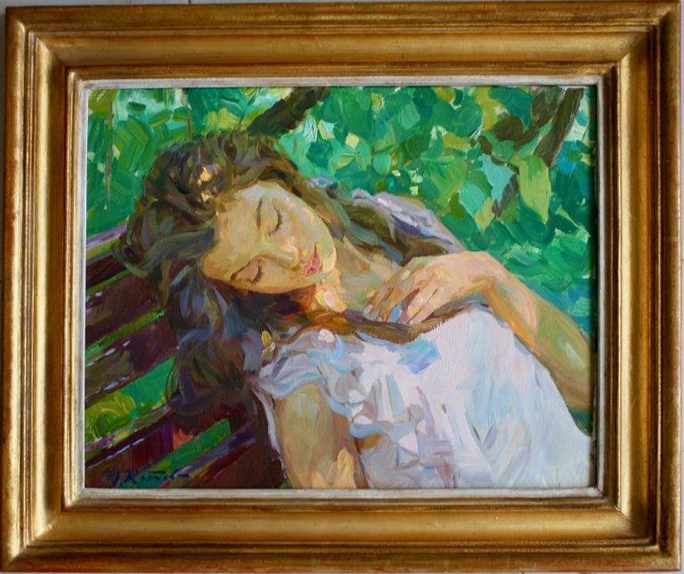 Sleeping ,,Yuri Krotov contemporary Russian artist impressionist  - Painting by Yuri Krotov