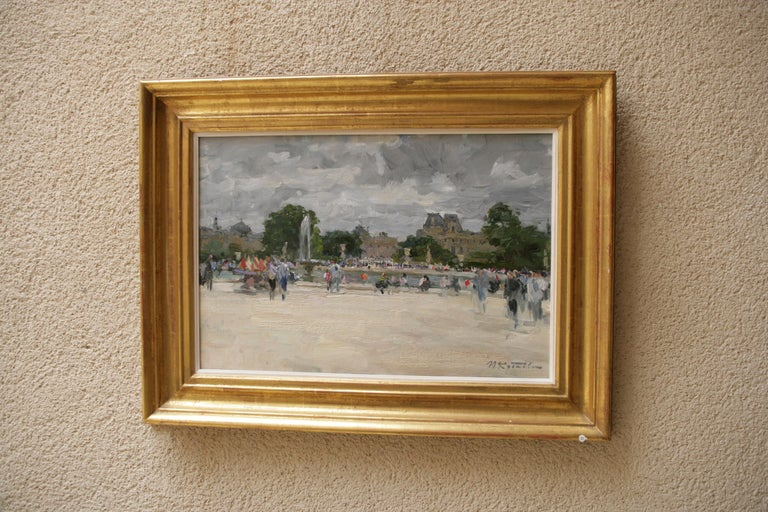 THE BOATING POND TUILERIES GARDES PARIS.Yuri Krotov Russian contemporary  For Sale 9