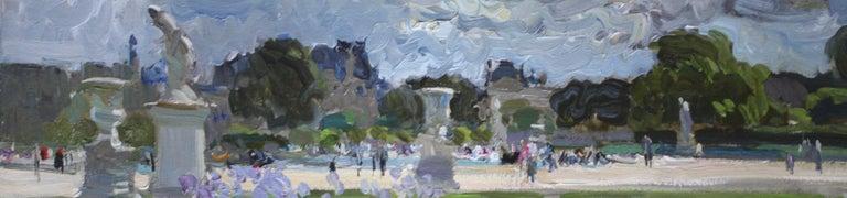 THE BOATING POND TUILERIES GARDES PARIS.Yuri Krotov Russian contemporary  For Sale 4