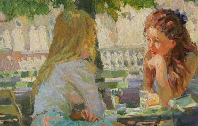 THE CONVERSATION LUXEMBOURG GARDENS PARIS,YURI KROTOV CONTEMPORARY RUSSIAN  ART For Sale 5