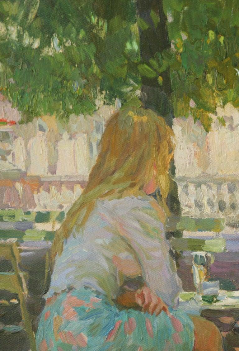 THE CONVERSATION LUXEMBOURG GARDENS PARIS,YURI KROTOV CONTEMPORARY RUSSIAN  ART For Sale 6