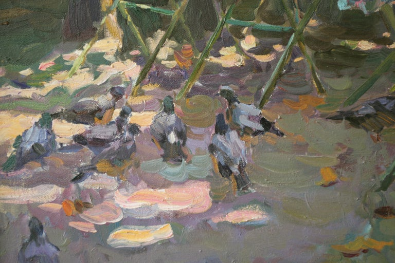 Yuri Krotov was born 1964 in Grivenskaya Cossack Settlement, Krasnodar Territory, located close to the Azov Sea.  At the age of 8 he met a local painter G.A. Polugaev who became his mentor.  With Polugaev, Krotov traveled to Moscow and enrolled in