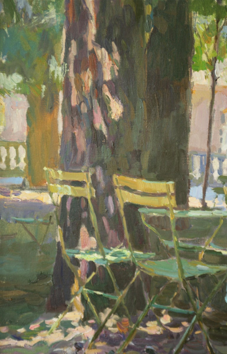 THE CONVERSATION LUXEMBOURG GARDENS PARIS,YURI KROTOV CONTEMPORARY RUSSIAN  ART For Sale 1