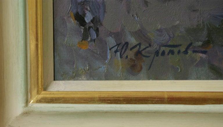 THE CONVERSATION LUXEMBOURG GARDENS PARIS,YURI KROTOV CONTEMPORARY RUSSIAN  ART For Sale 3