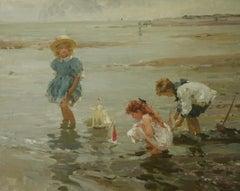 TOY SAIL PIRATES BOATS..Yuri Krotov Contempary Russian Impressionist unframed