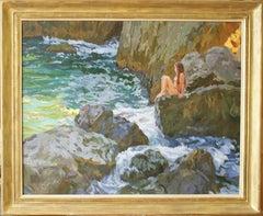 WAITING THE BIG WAVE,,,Yuri Krotov 1964  Russian impressionist