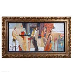 Yuri Tremler Russian Oil Painting Avant-garde Cocktail Bar Jazz Bohemian Earth