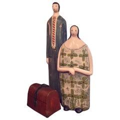 "Yuri Zatarain Ceramic Sculptures ""El Viaje"" from Artist's Series ""Love Story"""