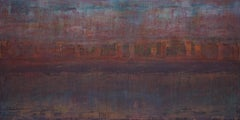 Bliss, Contemporary Expressionist Abstract Painting Canvas Minimalist Purple