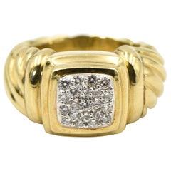 Yurman Diamond Gold Cable Band Ring